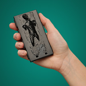 Ef2c han solo in carbonite business card holder inhand
