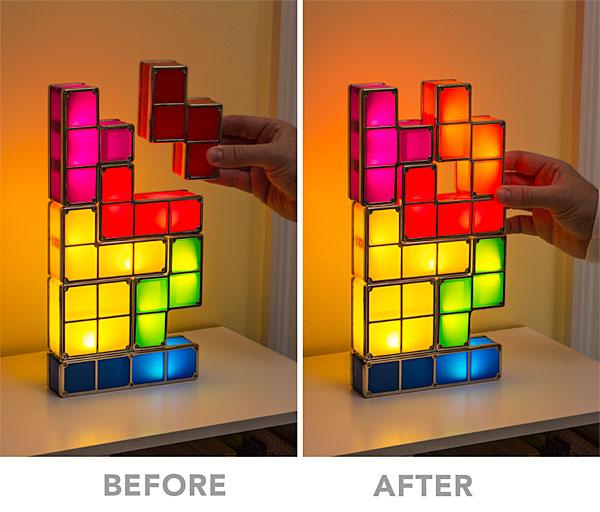 F034 tetris stackable led desk lamp stack