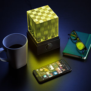 1f26 supernova speaker cube light inuse