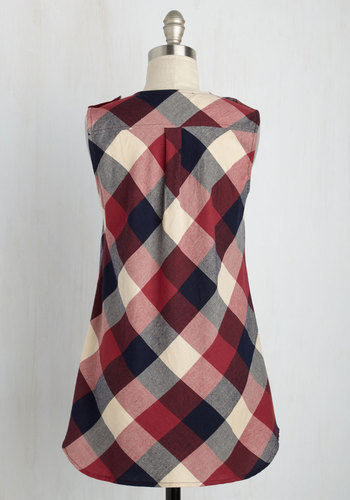 Rooftop harvest plaid tunic in red3