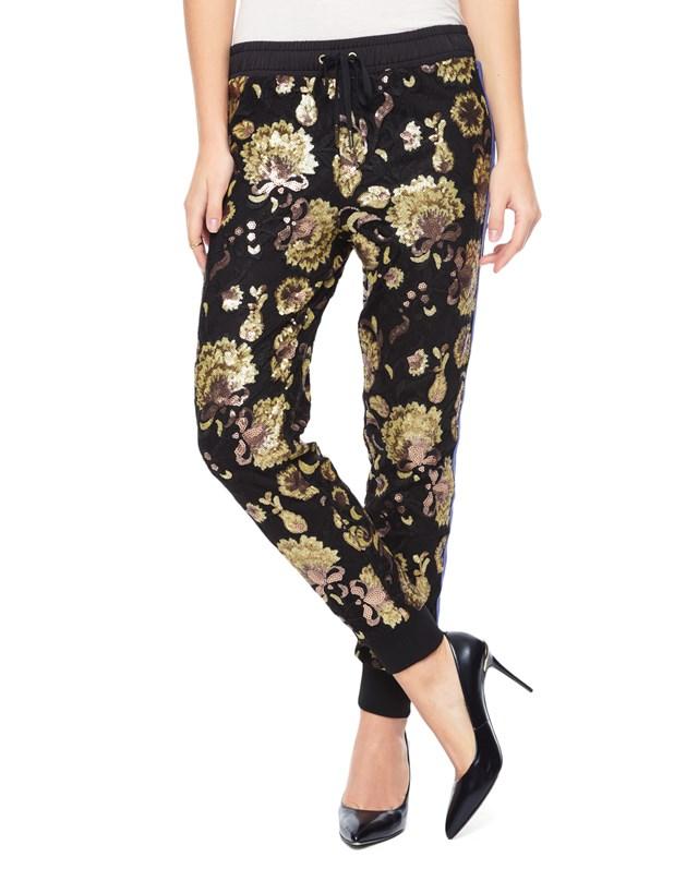 Embellished lace pant4