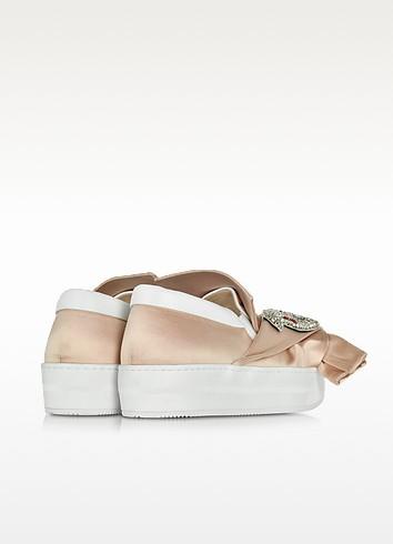 N 21 powder pink satin sneaker3