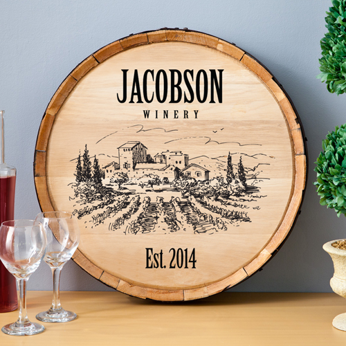 Personalized oak wine barrel  3