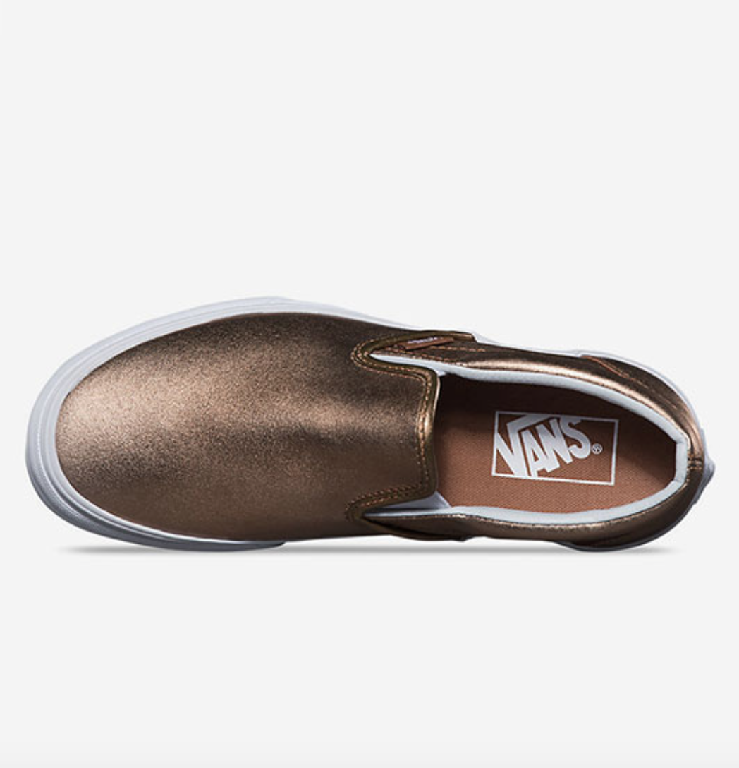 Vans metallic classic slip on womens shoes3