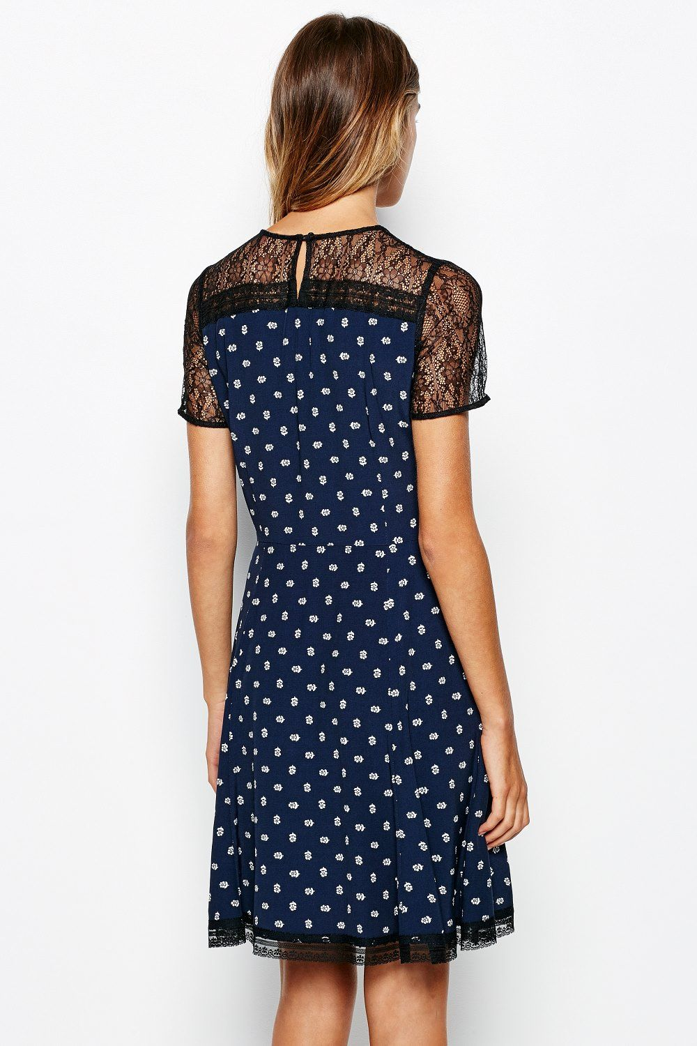 Padhams lace   crepe dress3