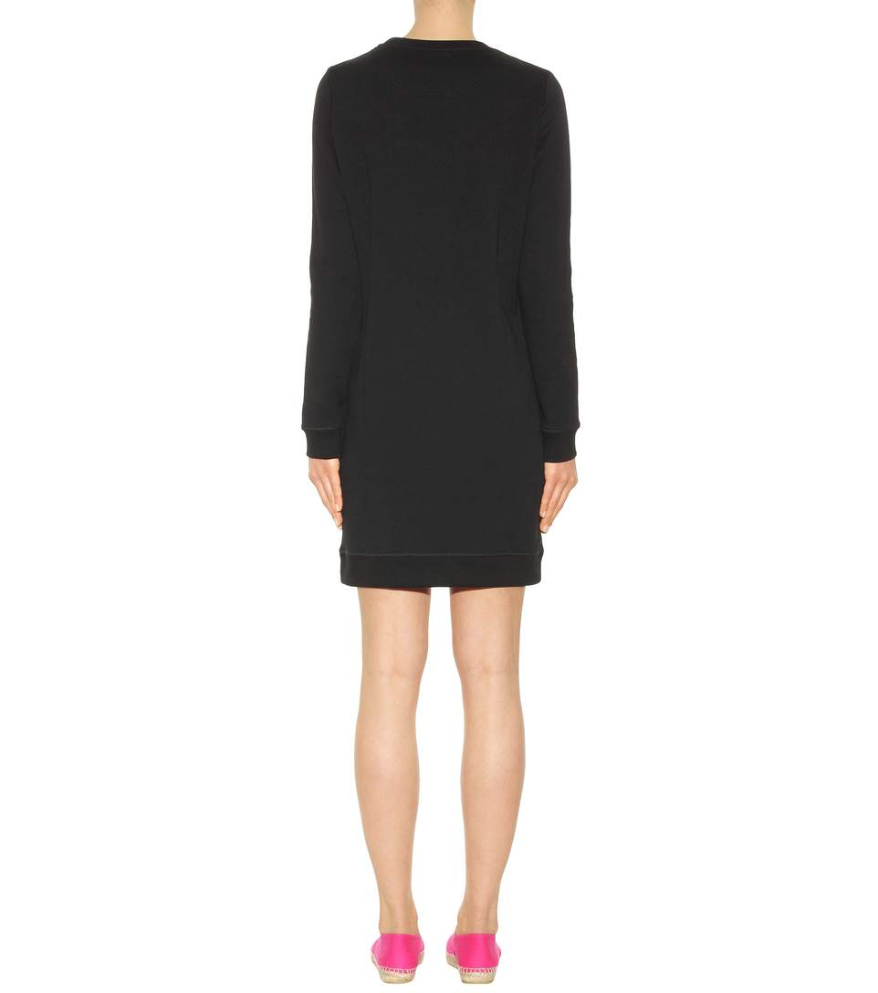 Kenzo embroidered cotton sweatshirt dress3