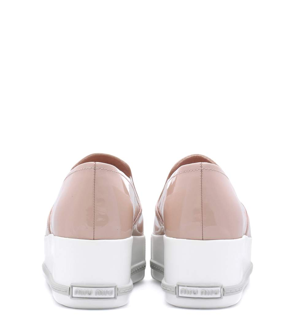 Miu miu leather platform loafers4