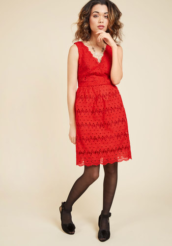 Stately satisfaction lace dress in tomato 3