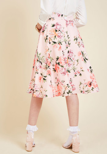 Bugle joy skirt in pink blossoms 3