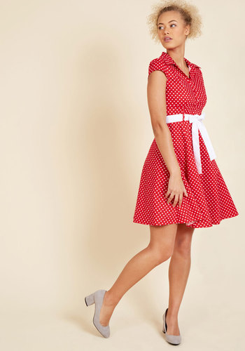 Hepcat soda fountain a line dress in cherry 3