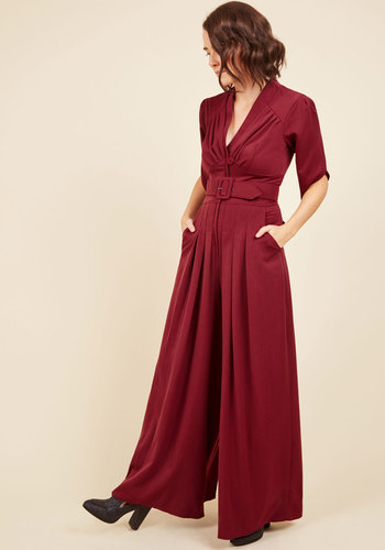 The embolden age jumpsuit in burgundy 3