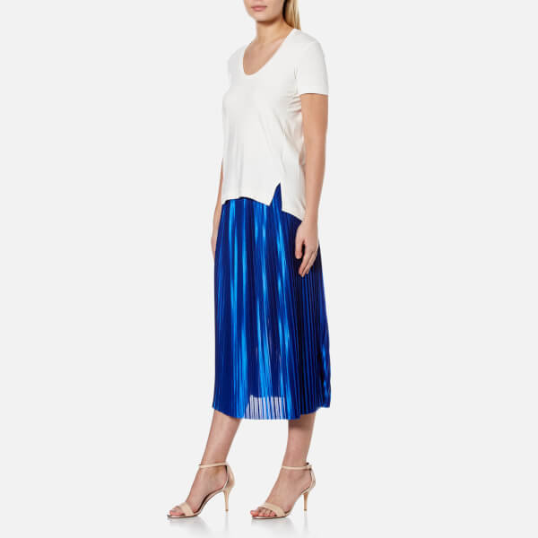 By malene birger women s miqiau pleated midi skirt   cobalt  3