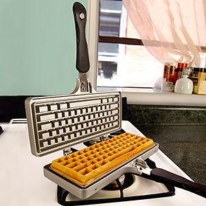 Jmmi the keyboard waffle iron stove