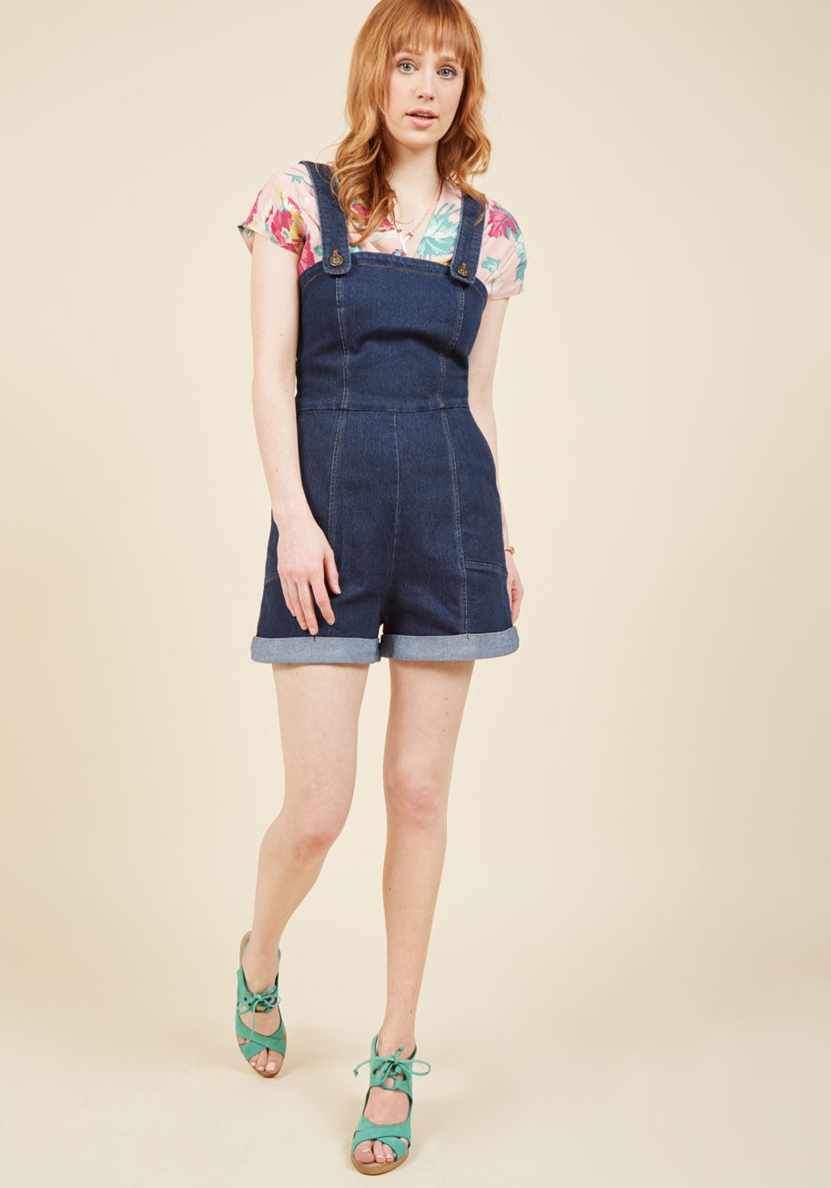 I ve got your throwback denim romper 3