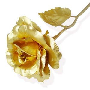6 inch gold foil rose3