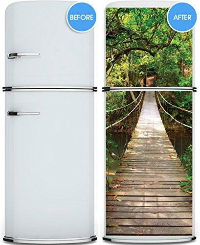 Giant door sticker rope bridge tropic forest 4