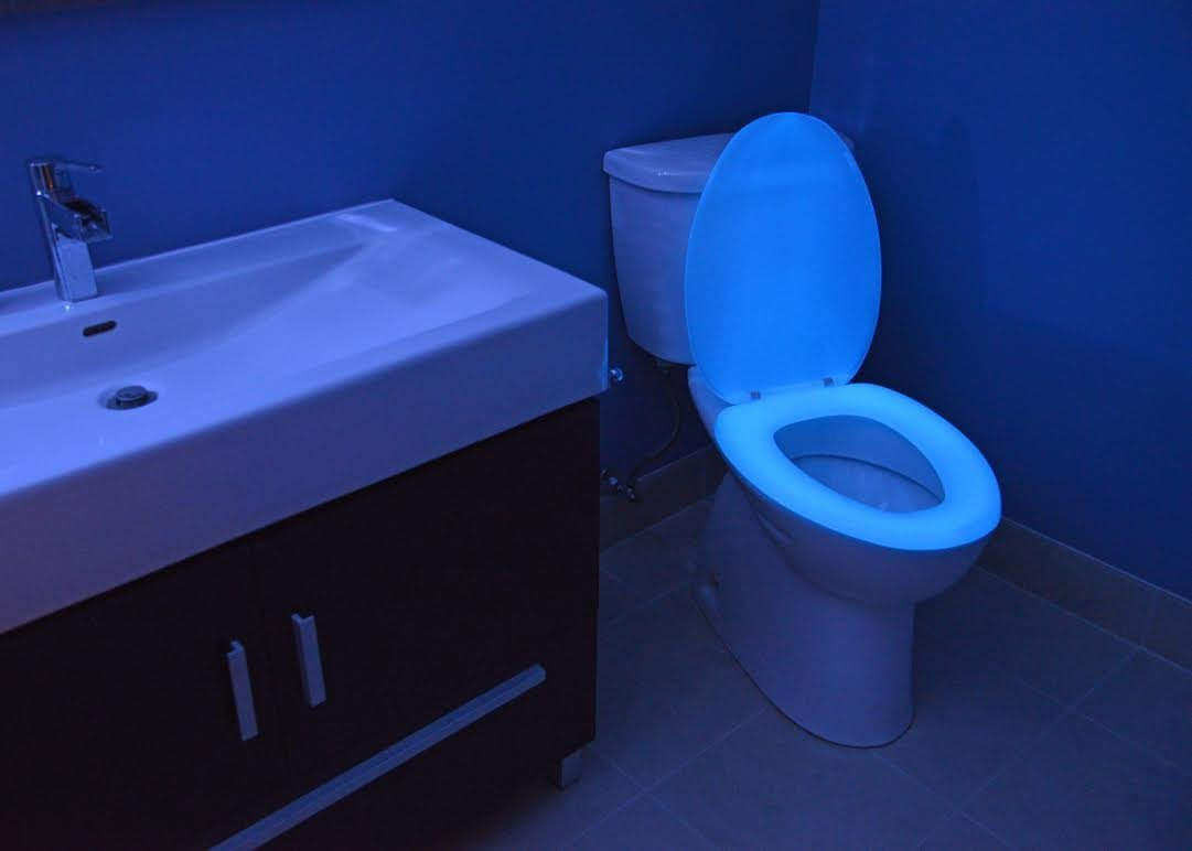 Glow in the dark neon toilet seat  neon green  elongated