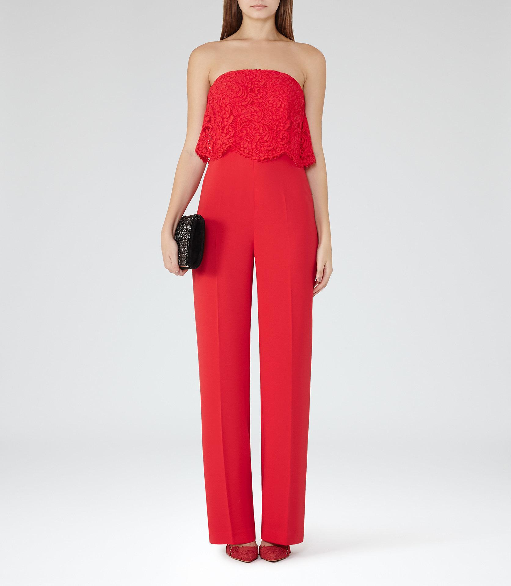 Natalie red jumpsuit