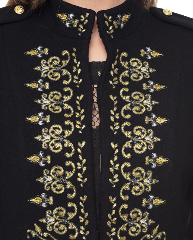 Melton embroidered coat4
