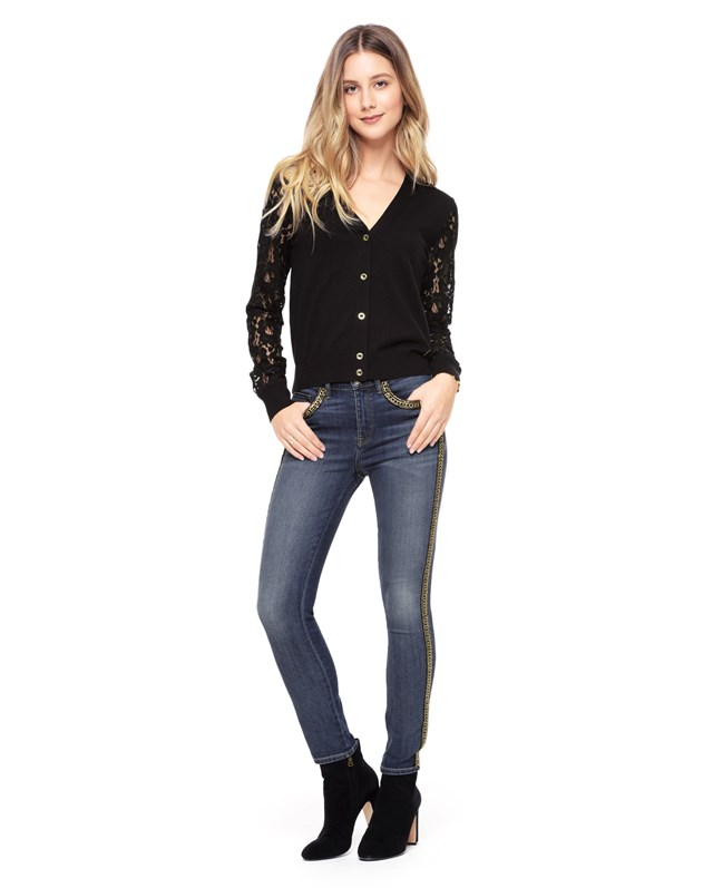 Chain trimmed skinny jean4