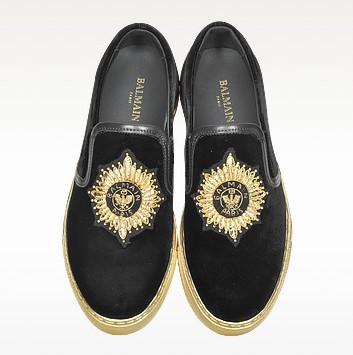 Balmain queen black velvet sneaker4