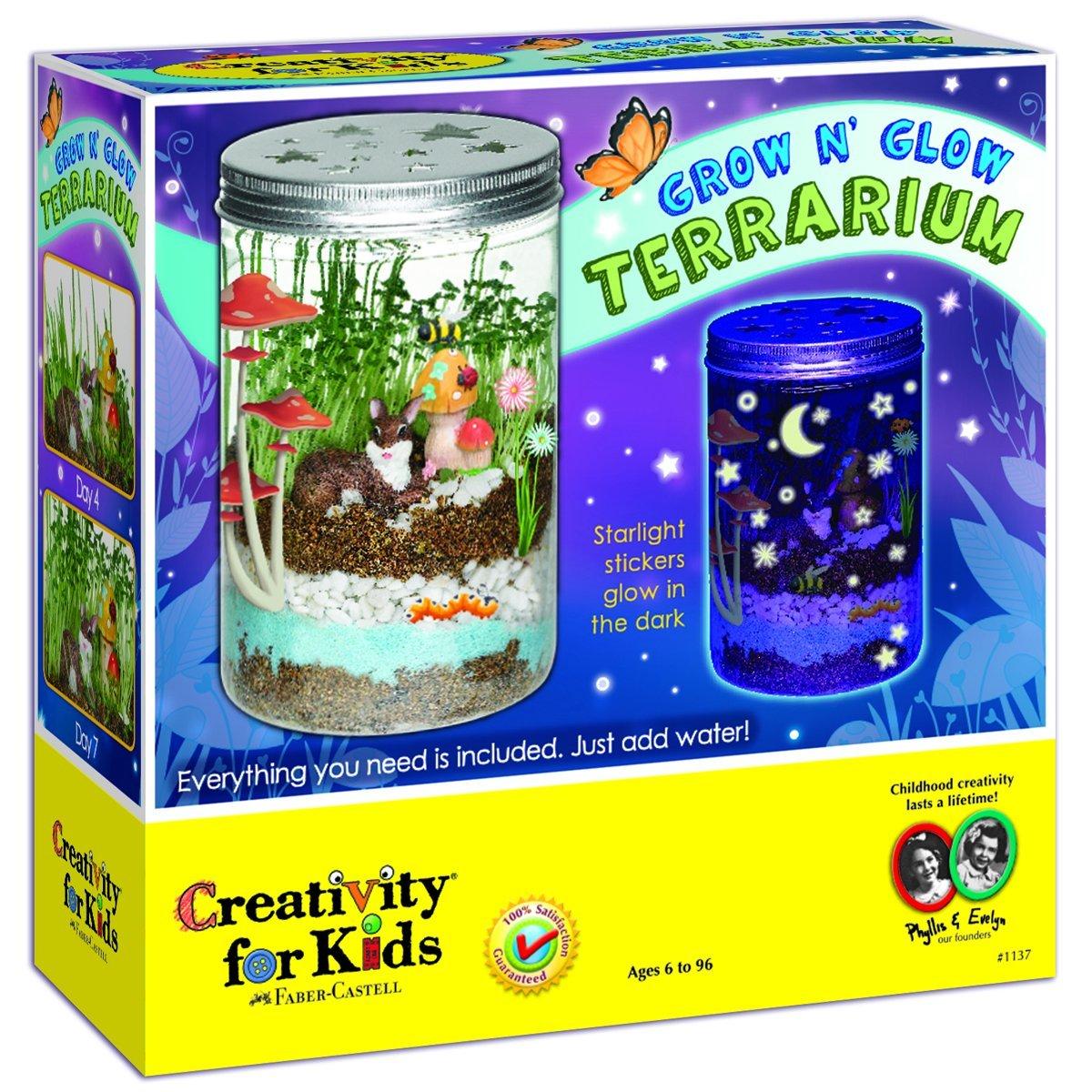 Creativity for kids grow  n glow terrarium 3