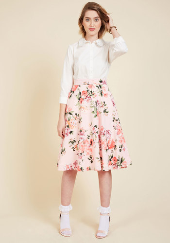 Bugle joy skirt in pink blossoms 4