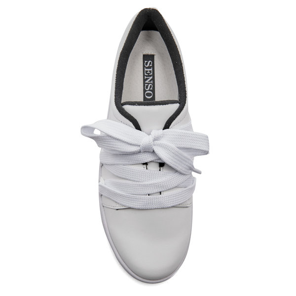 Senso women s arna leather low top trainers   ebony4