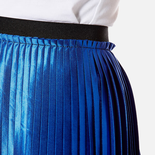 By malene birger women s miqiau pleated midi skirt   cobalt  4