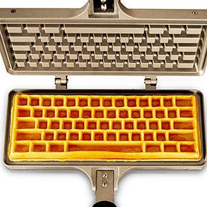 Jmmi the keyboard waffle iron top