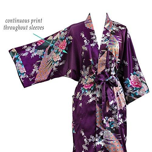 Old shanghai women s kimono short robe   peacock   blossoms 1